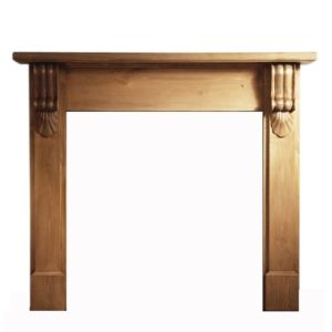 Grand Corbel Pine Wooden Surround-0