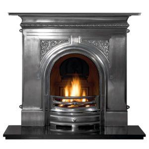 Pembroke Full Polish Cast Iron Fireplace-0