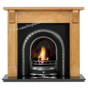 Henley and Pine Bedford Wooden Fireplace-0