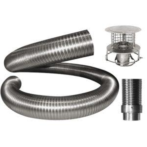 Chimney Flue Liner Kit Solid Fuel Complete Kit-0