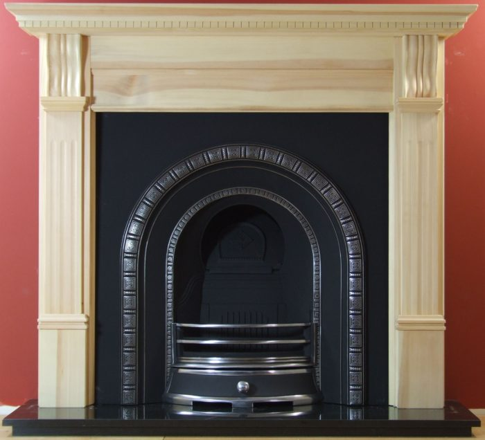 Henley and Pine Large Corbel Wooden Fireplace-0