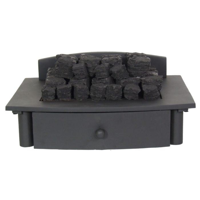 Zen Black Firebasket With Gas Insert-0