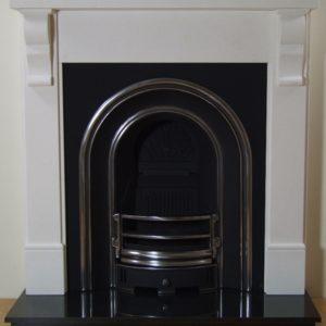 Monarch and Corbel Limestone Fireplace-0