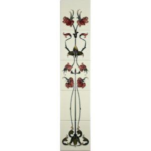 Haslingden Burgundy/Ivory Gallery Fireplaces Tubeline Tiles-0