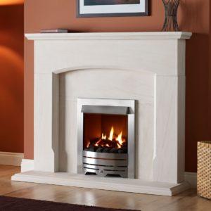 "Dacre Fireplace Suite Portuguese Limestone 54""-0"