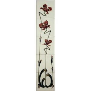 Jazz Burgundy/Ivory Gallery Fireplaces Tubeline Tiles-0