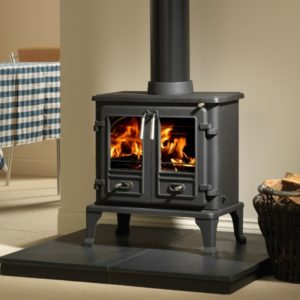 Firefox 8TD Twin Door Multi Fuel Stove-0