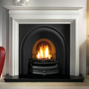Tradition and Asquith Limestone Fireplace-0