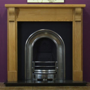 Coronet and Oak Bedford Wooden Fireplace-0