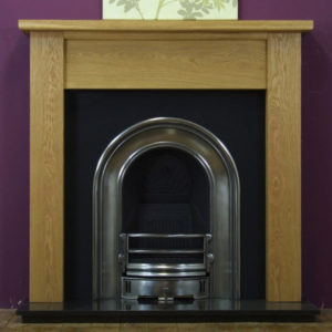 Coronet and Oak Lincoln Wooden Fireplace-0