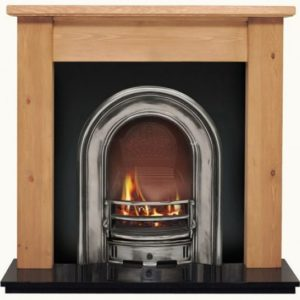 Coronet and Pine Lincoln Wooden Fireplace-0