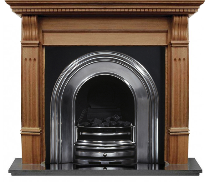 Crown and Oak Large Corbel Wooden Fireplace-0