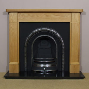 Henley and Oak Brompton Wooden Fireplace-0