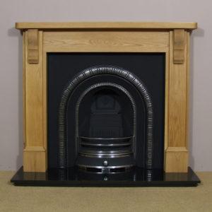 Henley and Oak Stourhead Wooden Fireplace-0