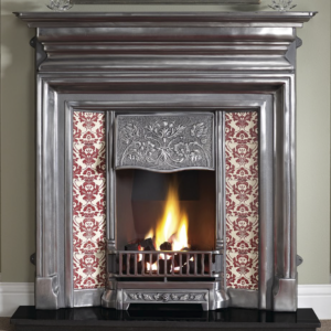 Edwardian Cast Iron Fireplace-0
