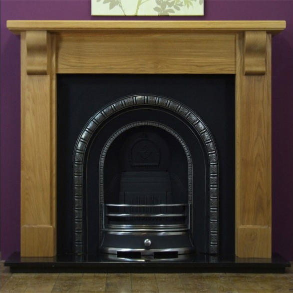 Henley and Oak Bedford Wooden Fireplace-0