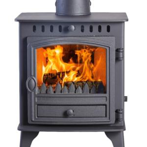 Hunter Herald 4 Wood Burning Multi Fuel Stove-0