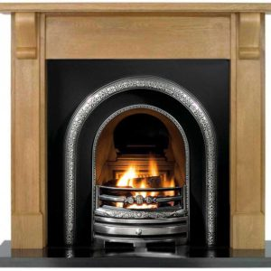 Lytton and Oak Bedford Wooden Fireplace-0