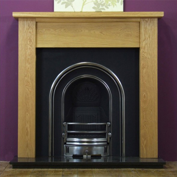 Monarch and Oak Lincoln Wooden Fireplace-0