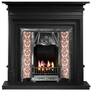 Any Highlighted Tiled Insert and Palmerston Cast Iron Fireplace-0