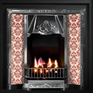 Toulouse Tiled Insert Fireplace-0