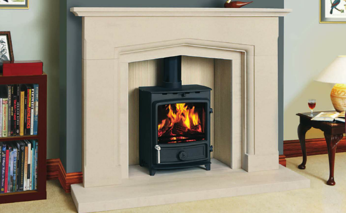 FDC5 Wide Multifuel Stove-2685