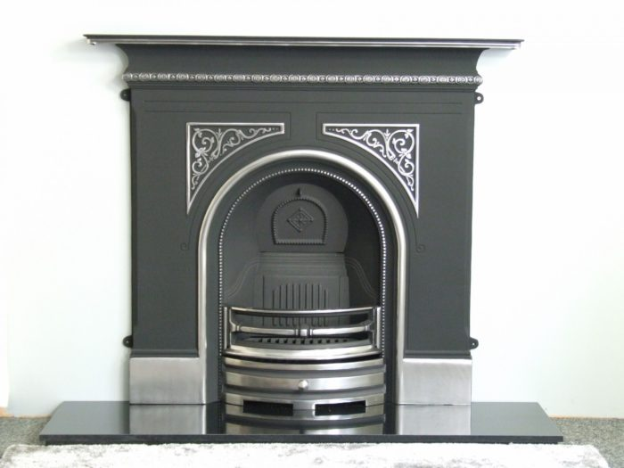 Pembroke Highlighted Cast Iron Fireplace-3586