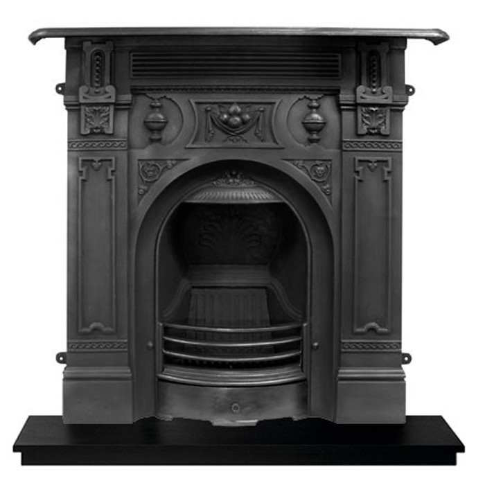 Carron Victorian Large Cast Iron Fireplace-0
