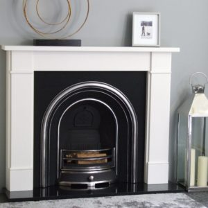 Jubilee and Flat Victorian White Micro Marble Fireplace-0