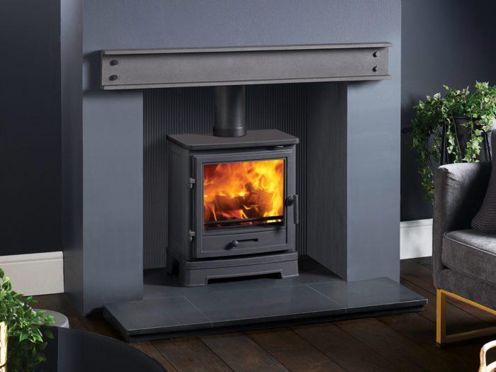 Geocast Contemporary Stove Grey Steel Beam-4316