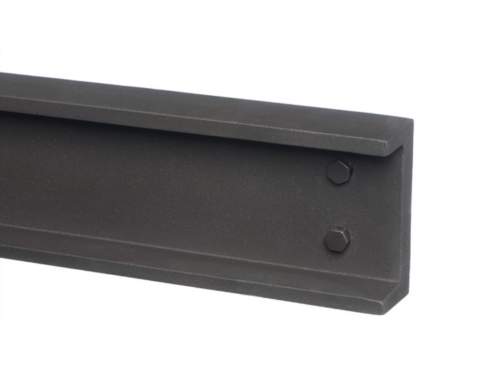 Geocast Contemporary Stove Grey Steel Beam-0